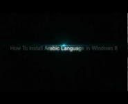 How to install Arabic Language in Windows 8
